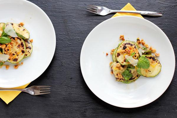 Courgette and Hazelnut Salad